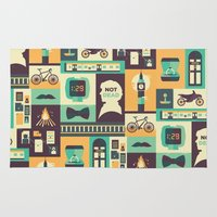 risa rodil Area & Throw Rugs featuring Empty Hearse by Risa Rodil