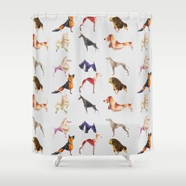 Dog breeds Shower Curtain