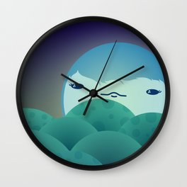 Moonlit Hills Wall Clock