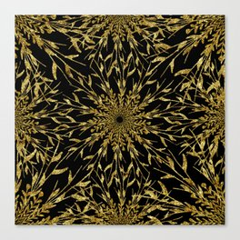 Black Gold Glam Nature Canvas Print