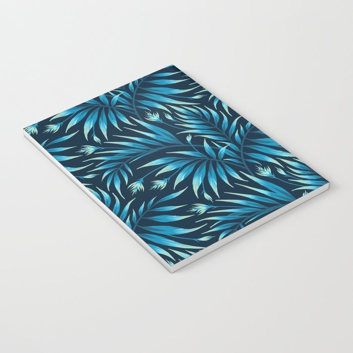 Waikiki Palm - Petrol Blue Notebook