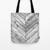 antique Tote Bags featuring Antique Wood by Patterns and Textures