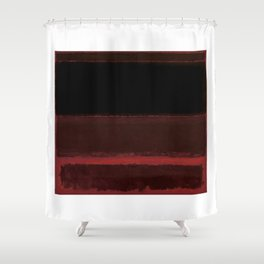 1958 Four Darks on Red by Mark Rothko Shower Curtain