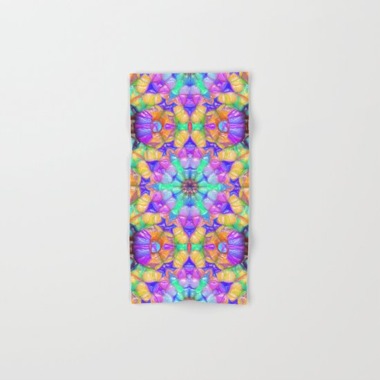 Colorful Concentric Reflections Hand & Bath Towel