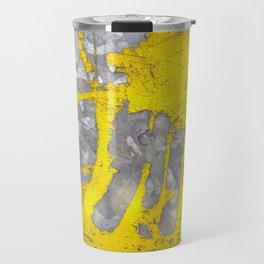 Fusions of Yellow and Grey Travel Mug