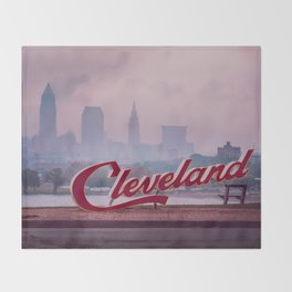 Homesick - Cleveland Skyline Throw Blanket
