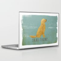 golden retriever Laptop & iPad Skins featuring Golden Retriever by 52 Dogs