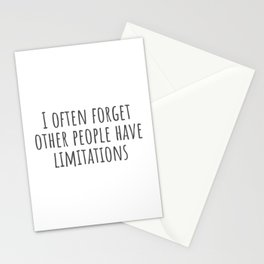 Limitations Stationery Cards