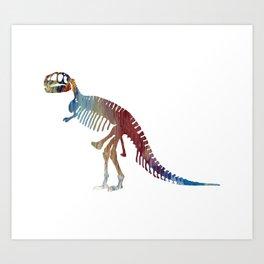 Tyrannosaurus Skeleton Art Print