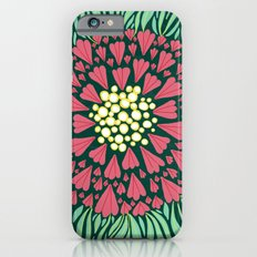 Pink and green florals iPhone 6s Slim Case