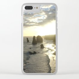 Dusk falls over the Great Southern Ocean Clear iPhone Case