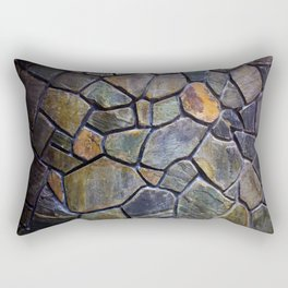 Mosaic Stone Wall Rectangular Pillow