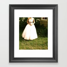 Lonely Bride Framed Art Print