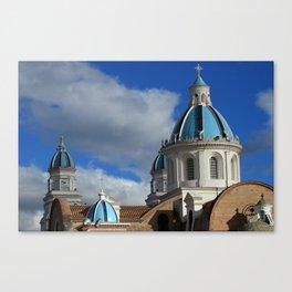 Domes on the Quinche Basilica Canvas Print