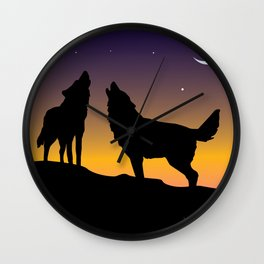 Howl Together Wall Clock