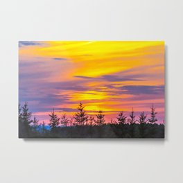 Sunset above the forest Metal Print
