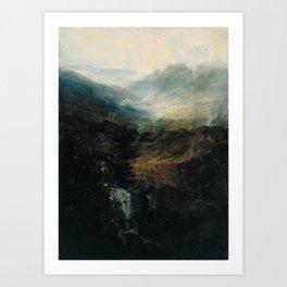 Joseph Mallord William Turner - Morning amongst the Coniston Fells, Cumberland Art Print