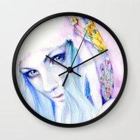 russian Wall Clocks featuring Russian winter by Cora-Tiana