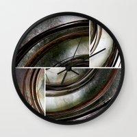metal Wall Clocks featuring Metal by Erica Schiavi