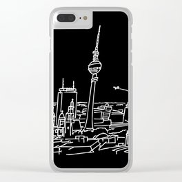 Panorama of Berlin with TV-tower Clear iPhone Case