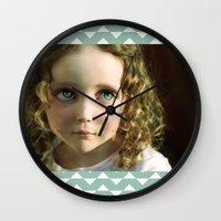 manga Wall Clocks featuring Manga Mila by micklyn