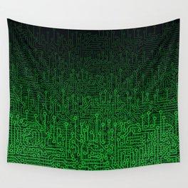 Reboot II GREEN Wall Tapestry