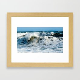 Waves at Cape Palliser, New Zealand Framed Art Print