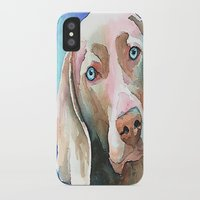 greg guillemin iPhone & iPod Cases featuring Greg The Weimaraner by bmeow