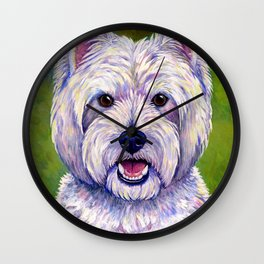 Colorful West Highland White Terrier Dog Wall Clock