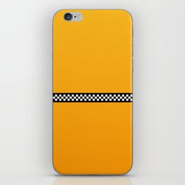 NY Taxi Cab Yellow with Black and White Check Band iPhone Skin