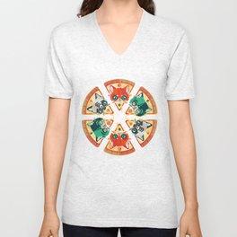 Pizza Slice Cats  Unisex V-Neck
