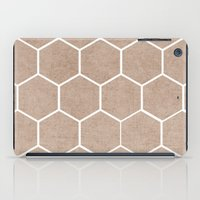 hexagon iPad Cases featuring natural hexagon by her art