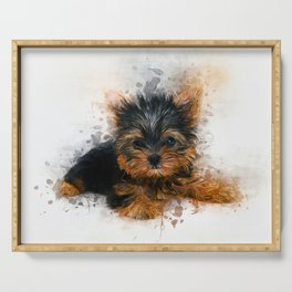 Yorkshire Terrier Puppy Serving Tray