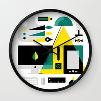 kit king Wall Clocks featuring Designer's Kit by koivo