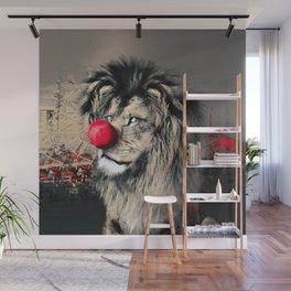 Circus Lion Clown Wall Mural