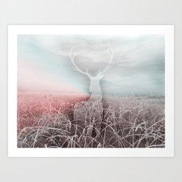 Frozen grass Art Print