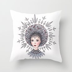 Snow Maiden Throw Pillow