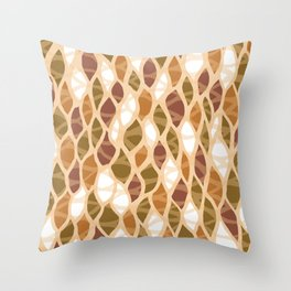 Leaf by leaf white spaces Throw Pillow