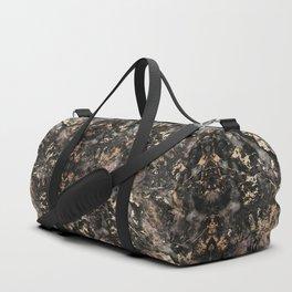 Gold Vein Black Marble Design Duffle Bag