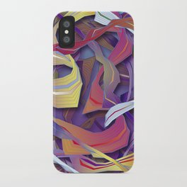 Interaction (in purple) iPhone Case