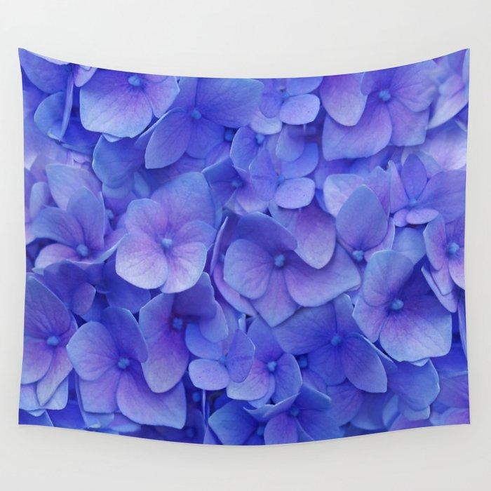 Hydrangea blue Wall Tapestry