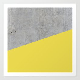 Concrete and Meadowlark Color Art Print