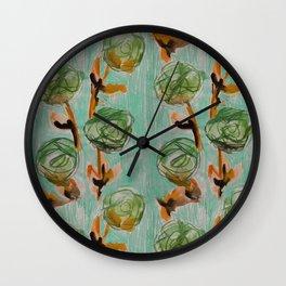 Roses Series Paintings Wall Clock