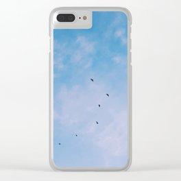 Pretty Blue Sky ft. Birds Clear iPhone Case