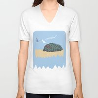 nausicaa V-neck T-shirts featuring ohmu! by nisimalotse