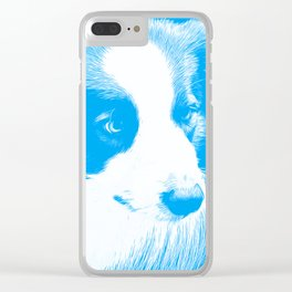 border collie dog 4 vawb Clear iPhone Case