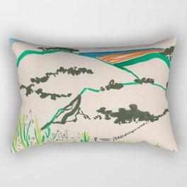 To the beach -Minimalist Landscape Rectangular Pillow