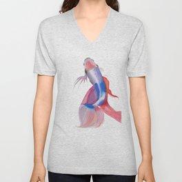 Emerge - Siamese Fighting Fish - #Art - #Painting - EWatercolor Print - Unisex V-Neck