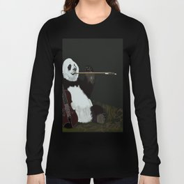 panda violinist Long Sleeve T-shirt