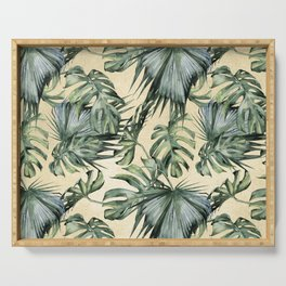 Palm Leaves Classic Linen Serving Tray
